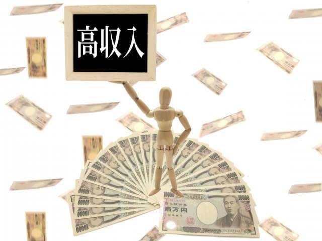 収入別に利用できる金融機関を記載